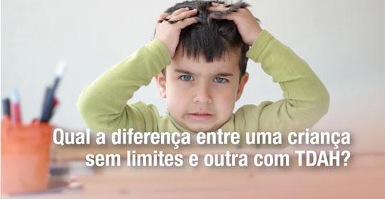Qual a diferença entre uma criança sem limites e outra com TDAH?